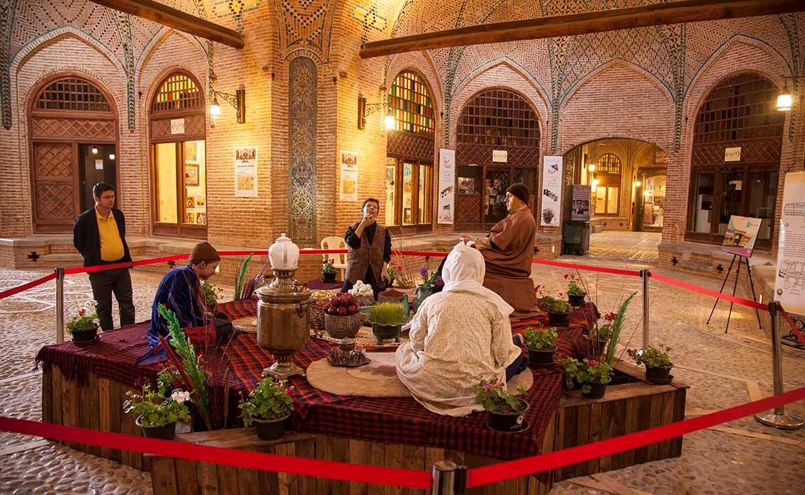 بازار قزوین و سرای سعدالسلطنه قزوین 2