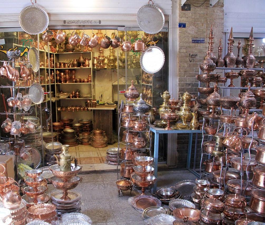 بازار پنجه علی، بازار مسگران یزد، گردشگری یزد