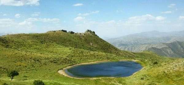 دریاچه چال ئاو روستای نگل