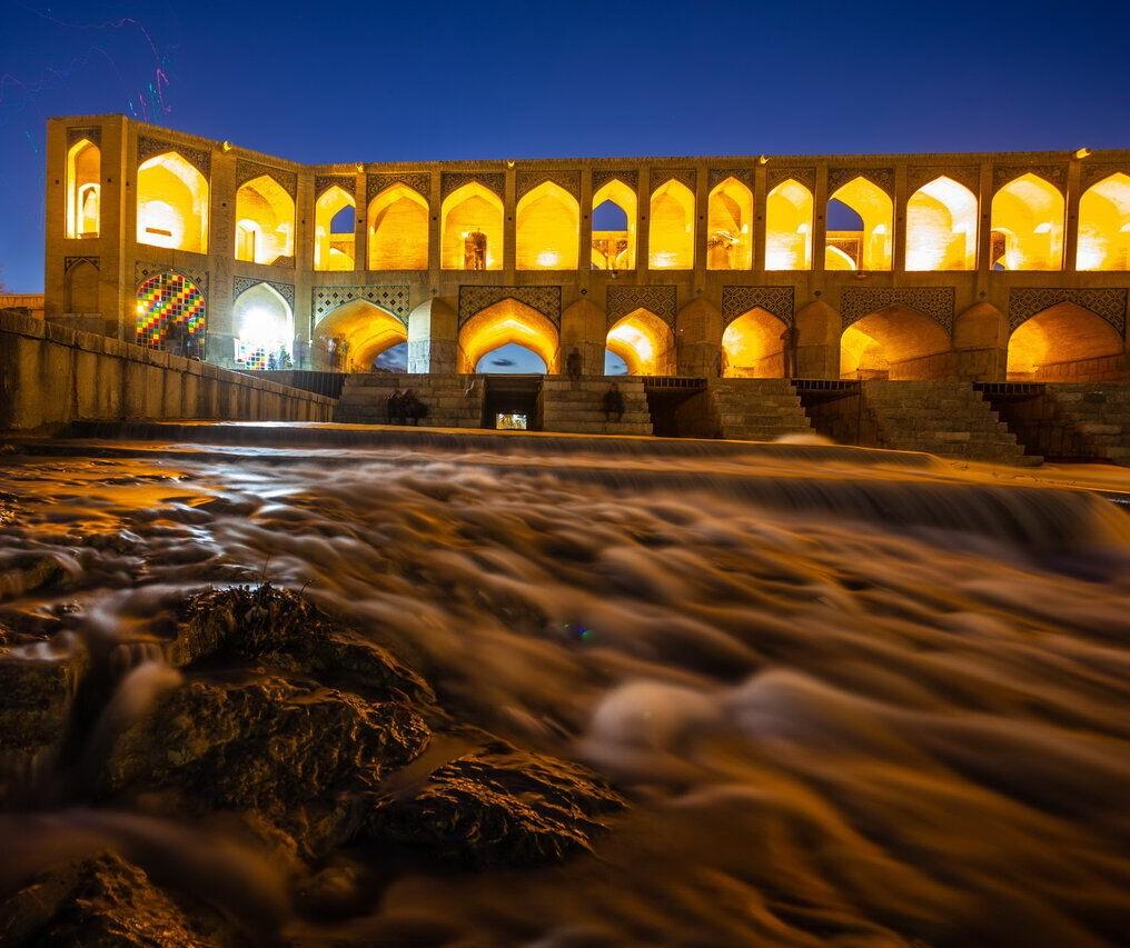 رودخانه زاینده رود اصفهان