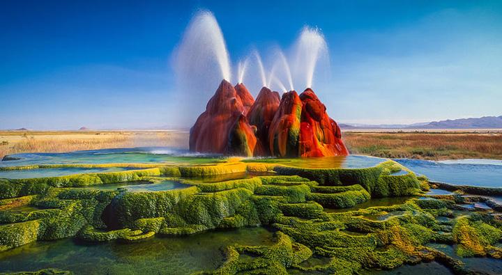 چشمه آب گرم فلای نوادا | آبفشان فلای نوادا | Fly Geyser