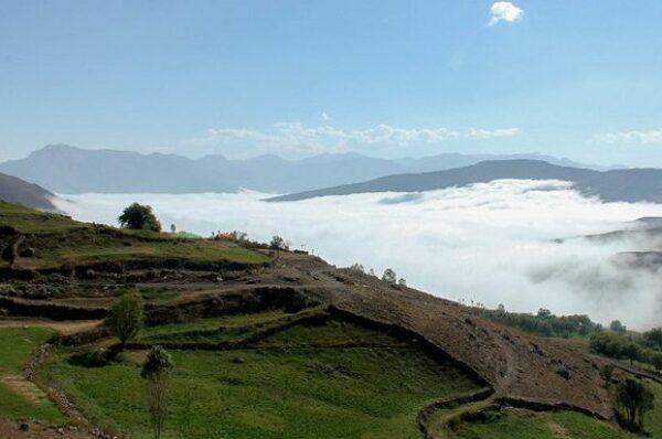 روستای ناندل آمل، بهشتی پنهان در ابرها