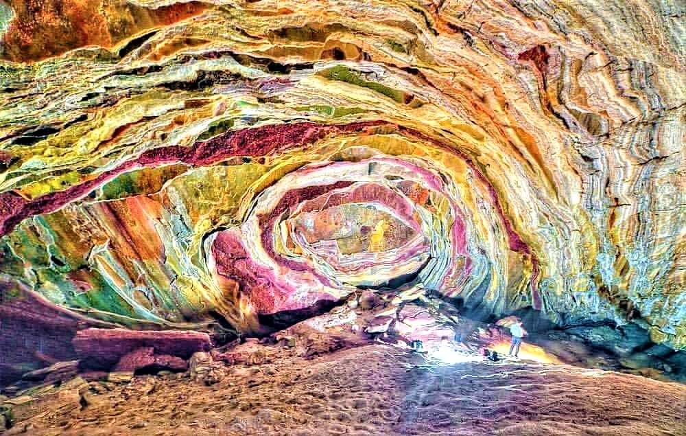 غار رنگین کمان   جزیره هرمز