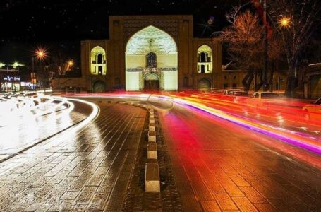 سردر عالی قاپو در خیابان سپه قزوین